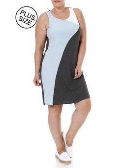 Vestido-Plus-Size-Feminino-Lunender-Cinza-azul