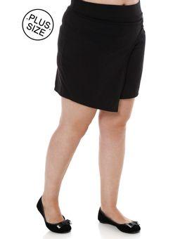 Short-Saia-de-Tecido-Plus-Size-Feminino-Preto