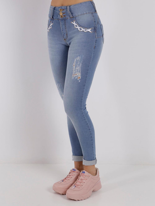 2ca6620f5 Calça Jeans Feminina Azul - Lojas Pompeia