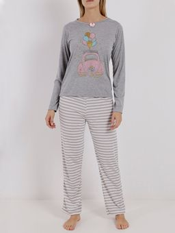 Pijama-Longo-Feminino-Cinza-P