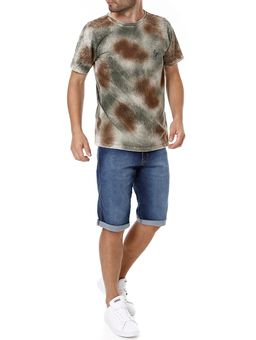 Camiseta-Manga-Curta-Masculina-Marrom-P