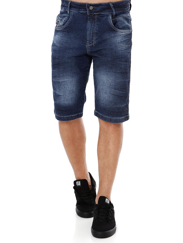 266a3e580 Bermuda Jeans Masculina Bivik Azul - Lojas Pompeia