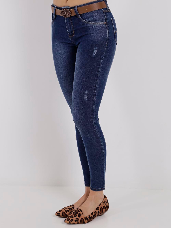 92fb57b60 Calça Jeans Cigarrete Feminina Azul - Lojas Pompeia