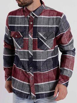 Camisa-Manga-Longa-Masculina-Federal-Art-Cinza-vermelho-P
