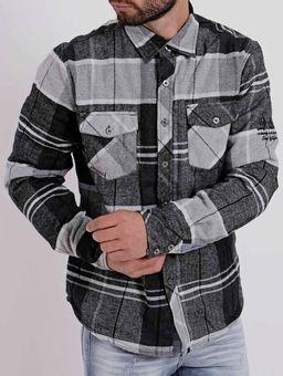 Camisa-Manga-Longa-Masculina-Federal-Art-Preto-cinza-P