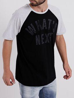 Camiseta-Manga-Curta-Masculina-Preto-cinza-P