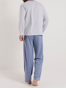 Pijama-Longo-Masculino-Azul-cinza-P