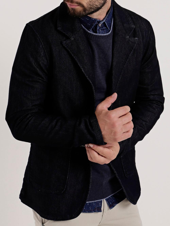 aa33e3a8f Blazer Jeans Masculino Bivik Azul - Lojas Pompeia