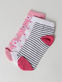 Kit-com-03-Meias-Femininas-Autentique-Rosa-branco