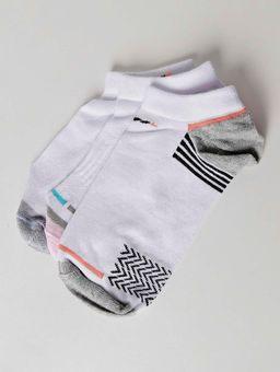 Kit-com-03-Meias-Femininas-Autentique-Branco-rosa-cinza