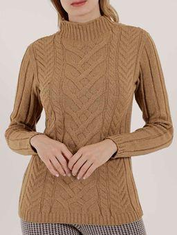 Blusa-de-Tricot-Feminina-Autentique-Bege-P