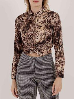 Camisa-Manga-Longa-Feminina-Preto-marrom-P