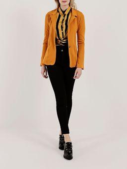 Camisa-Manga-Longa-Feminina-Amarelo-preto-P