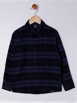 Camisa-Flanela-Manga-Longa-Infantil-Para-Menino---Azul-Marinho-6