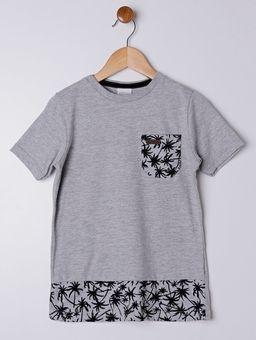 Camiseta-Manga-Curta-Alongada-Infantil-Para-Menino---Cinza-6