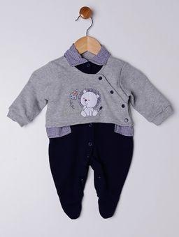 -Enxoval-Infantil-Para-Bebe-Menino---Cinza-azul-Marinho-P