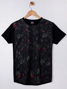 Camiseta-Manga-Curta-Alongada-Juvenil-Para-Menino---Preto-16