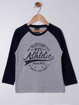 Camiseta-Manga-Longa-Infantil-Para-Menino---Cinza-azul-Marinho-6