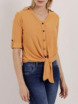 Camisa-Manga-3-4-Feminina-Autentique-Amarelo-P