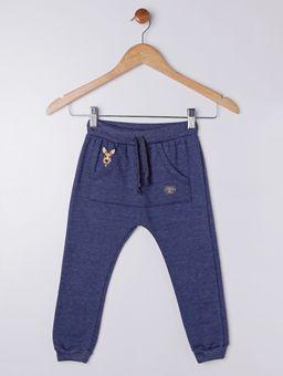 ac4bb58b8 Calça Moleton Infantil Para Menino Azul