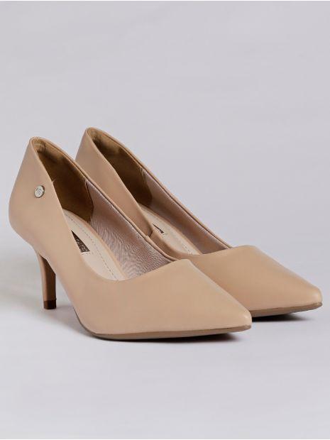 110c05713 Sapato Scarpin Feminino Via Marte Bege - Lojas Pompeia
