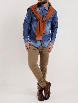 Camisa-Jeans-Manga-Longa-Masculina-Gangster-Azul-P