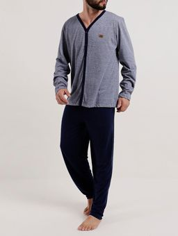 Pijama-Longo-Masculino-Azul-marinho-P