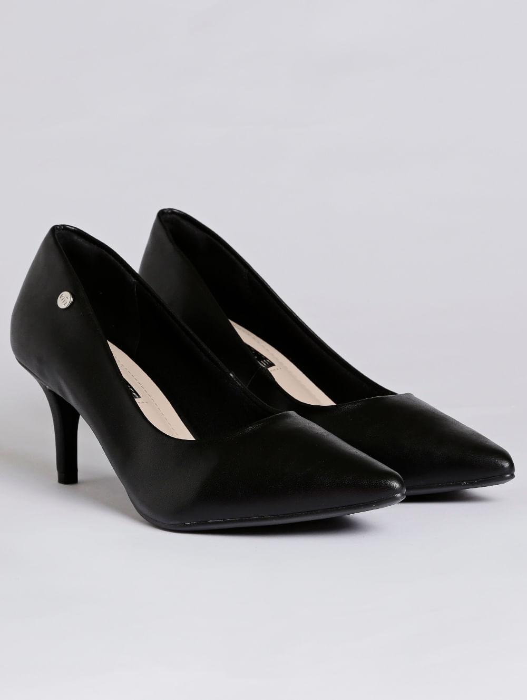 f0b74bf1e Sapato Scarpin Feminino Via Marte Preto - Lojas Pompeia