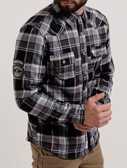Camisa-Forrada-Manga-Longa-Masculina-Gangster-Preto-cinza