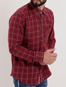 Camisa-Flanela-Manga-Longa-Masculina-Vermelho