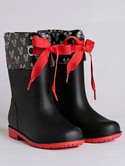 Bota-Galocha-Disney-Style-Infantil-para-Menina---Vermelho-preto