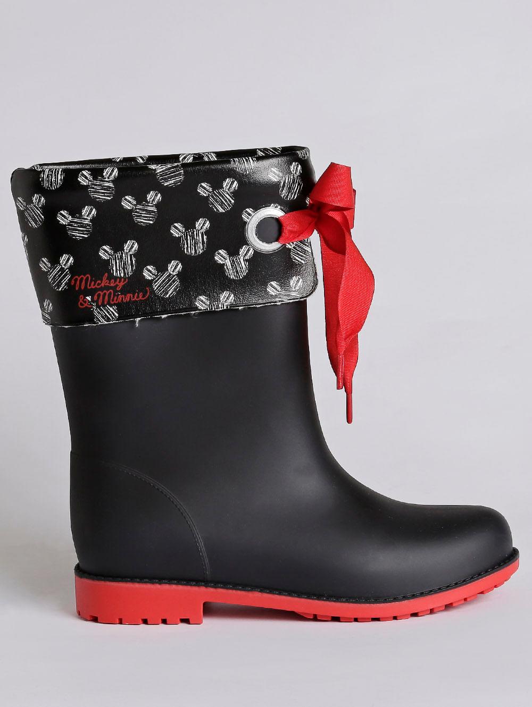 6a955b6524175b Bota Galocha Disney Style Infantil para Menina - Vermelho/preto