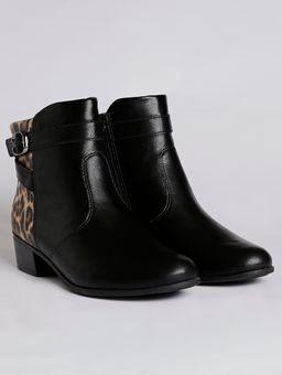 Bota-Ankle-Boot-Animal-Print-Feminina-Comfortflex-Preto-34
