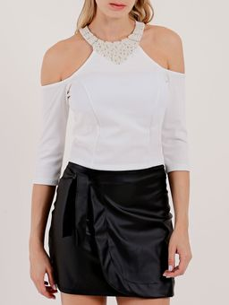 Blusa-Cropped-Manga-¾-Feminina-Autentique-Off-White