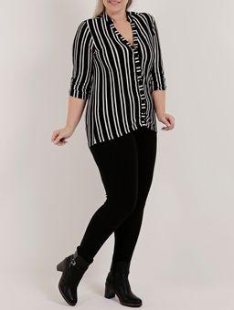 Camisa-Manga-3-4-Plus-Size-Feminino-Autentique-Preto-G2