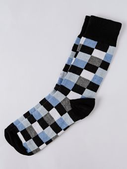 Meia-Cano-Longo-Masculina-Vels-Preto-azul