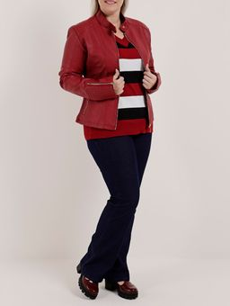 Sueter-Plus-Size-Feminino-Vermelho-preto-G2
