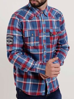 Camisa-Forrada-Manga-Longa-Masculina-Gangster-Azul-vermelho