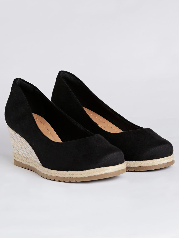 dd238acc7 Sapato Espadrille Anabela Feminina Bebecê Preto - Lojas Pompeia