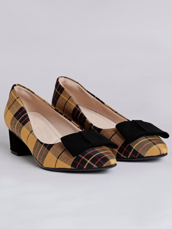 39e219b0ad Sapato Feminino Bebecê Amarelo preto - Lojas Pompeia
