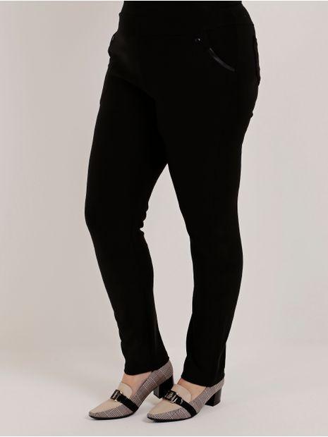 f178ecb66 Calça de Tecido Plus Size Feminina Preto - Lojas Pompeia