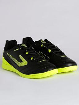 29370002987 Tênis Futsal Masculino Topper Boleiro II Indoor Preto amarelo