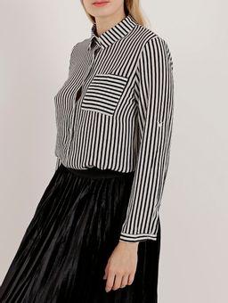 Camisa-Manga-Longa-Feminina-Branco-preto-P