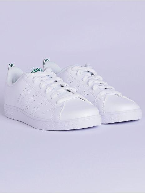 Tênis Adidas Vs Advantage Clean K Infantil Para Menino Brancoverde