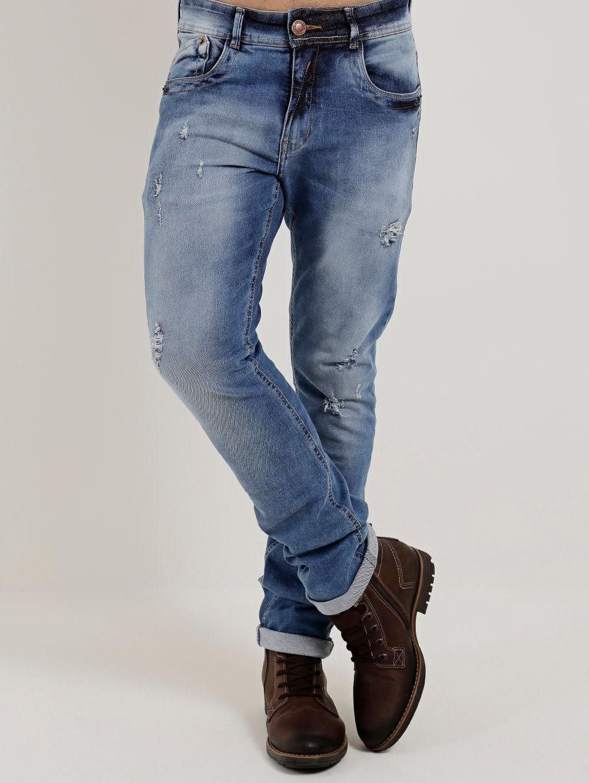 8b41047e8 Calça Jeans Slim Masculina Cook's Azul - Lojas Pompeia