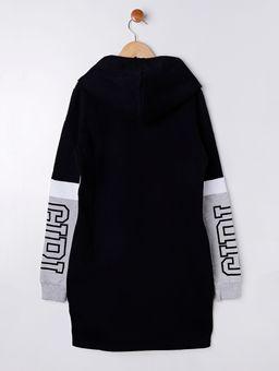 Vestido-Moletom-Lunender-Juvenil-para-Menina---Cinza-preto