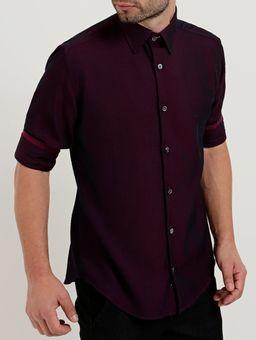 Camisa-Manga-3-4-Masculina-Bordo-P