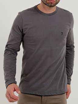 Camiseta-Manga-Longa-Masculina-Cinza-P