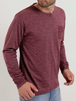 Camiseta-Manga-Longa-Masculina-Bordo-P