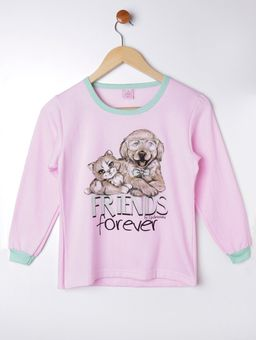 Pijama-Longo-Juvenil-Para-Menina---Verde-rosa